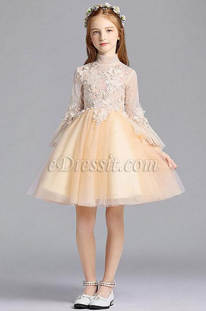 Lovely Princess Tulle Wedding Flower Girl Dress