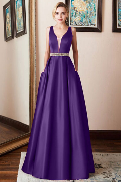 eDressit Sleeveless Beading Waistband Evening Dress Prom Gown (36214305)