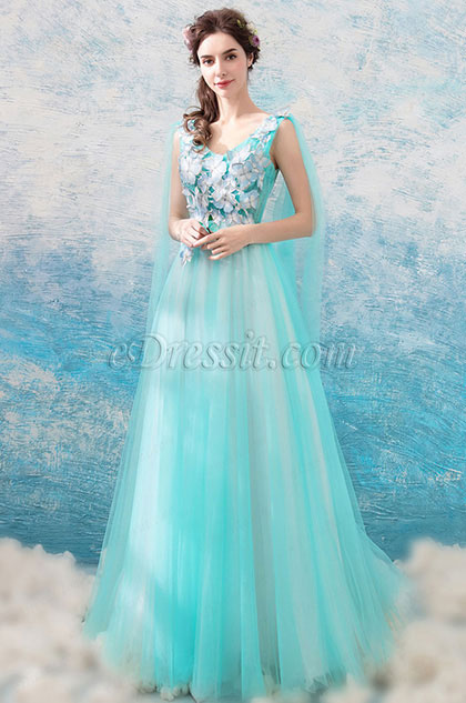 eDressit Sexy V-Cut Floral Tulle Party Formal Women Dress (36201732)