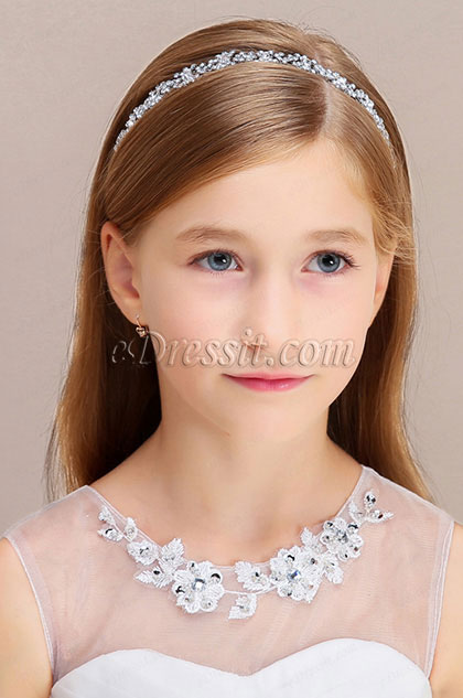 eDressit Shiny Beads Girl Headwear Hair Hoop  (13191626)