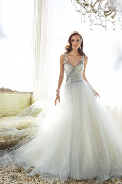 eDressit Sexy V-Cut Straps Elegant Tulle Party Wedding Dress (36215308)