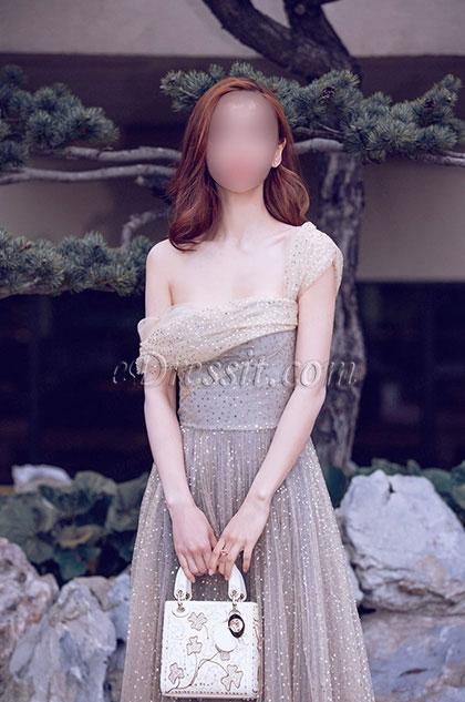 eDressit Grey Sequins Unique Shoulder Design Party Evening Dress (36192408)