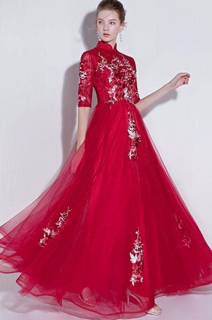 eDressit High Neck Red Lace Evening Dress Formal Wear (36217602)