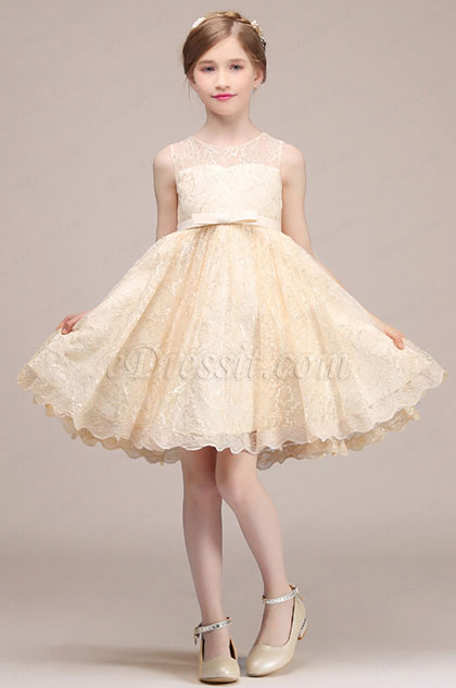 eDressit Bowknot Short Wedding Flower Girl Mini Dress (28193714)