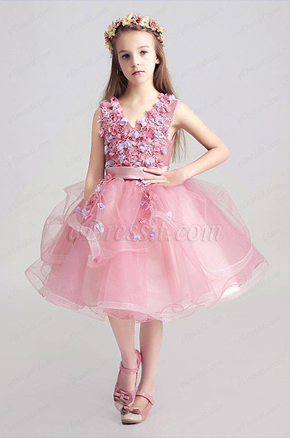 eDressit Lovely Pink Little Girl Wedding Flower Girl Dress (28190101)