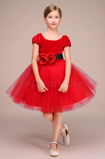 eDressit Red Handmade Tulle Flower Girl Dress (28192302)