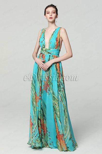 eDressit V Col Florale Imprimé Robe de Soirée (00183168H)