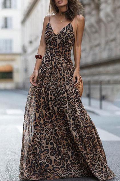 eDressit Spaghetti Leopard Summer Dress Printed Dress (36214905)