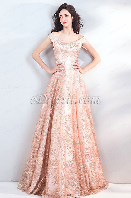 eDressit Sexy Off Shoulder Beads Formal Prom Party Gown(36208414)