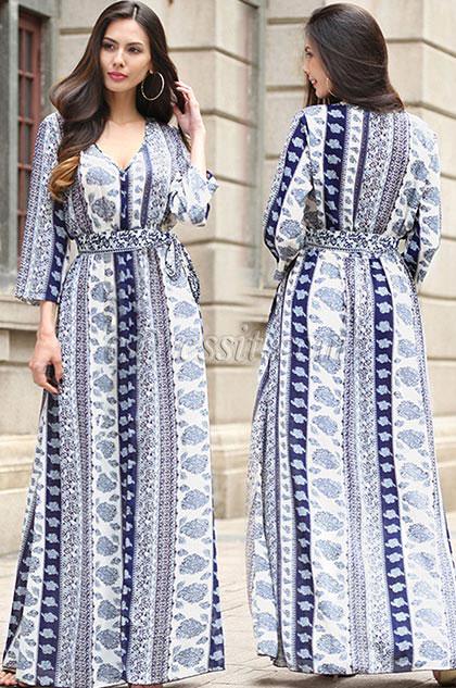 eDressit Long Sleeves Bohemia Dress Holiday Dress (36192168)