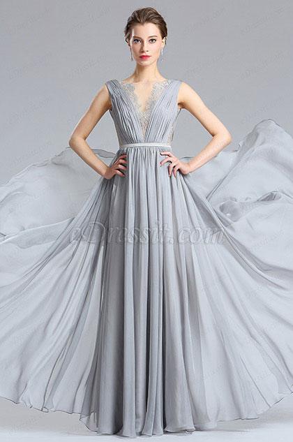 eDressit Jolie Robe de Soirée A La Mode Longue Gris (00182608)