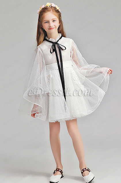 eDressit White Short Flower Girl Wedding Party Dress (28194507)