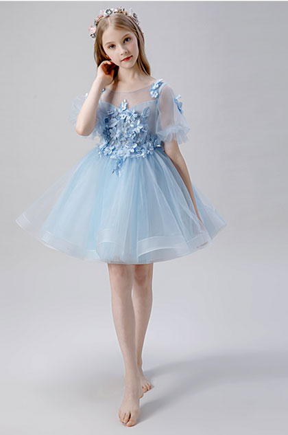 eDressit Baby Blue Short Flower Girl Dress (28203105)