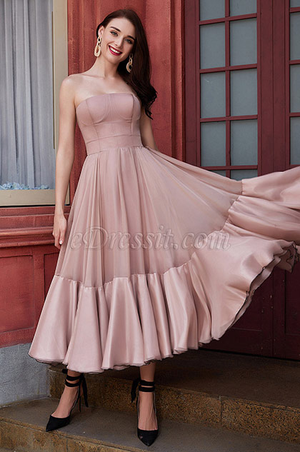 eDressit New Corset Tea Length Ruffle Party Evening Dress (04200246)
