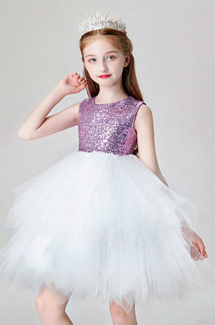 eDressit Lovely Purple Sequin Wedding Flower Girl Dress (28202106)