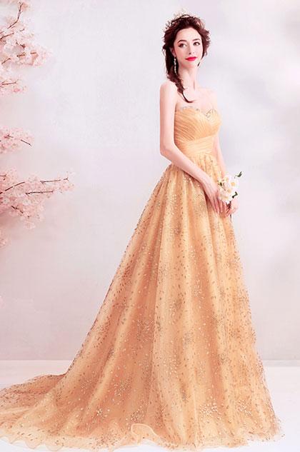 eDressit Sexy Corset Gold Sweetheart Party Evening Ball Dress (36221324)