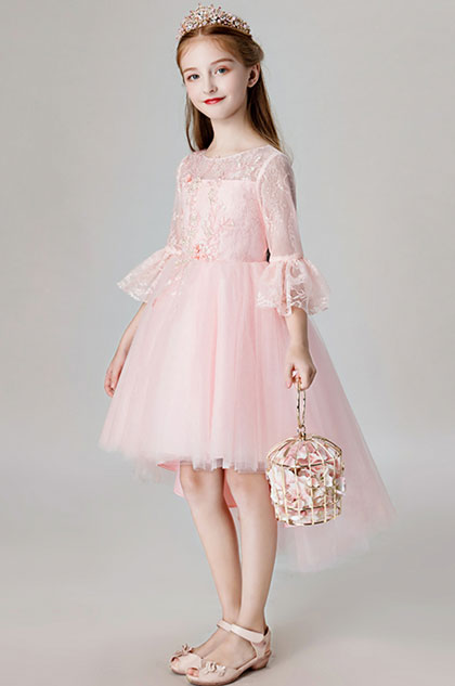 eDressit Pink Lace & Tulle Flower Girl Dress (28201701)
