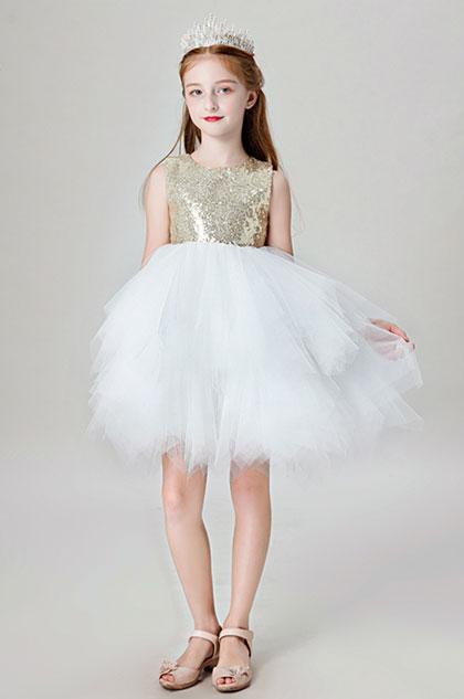 eDressit Lovely Gold Sequin Wedding Flower Girl Dress (28202124)