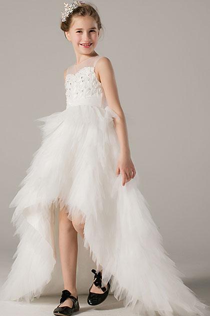 eDressit Princess Sheer Top Children Wedding Flower Girl Dress (28198407)
