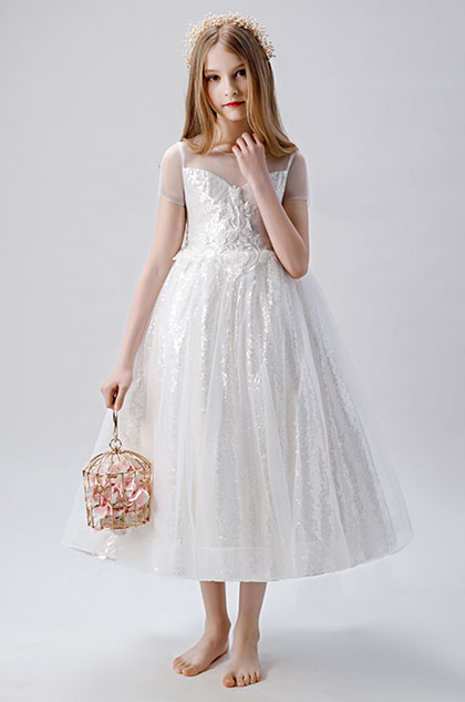 eDressit Sheer Top Children Wedding Flower Girl Dress (27206607)