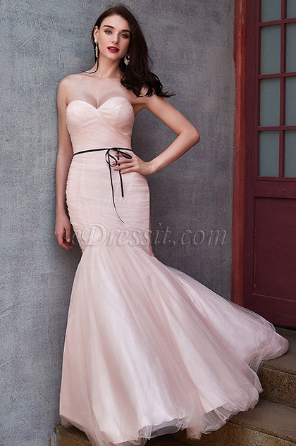 eDressit New Light Pink  Sweetheart Mermaid Tulle Party Ball Gown (02200401)