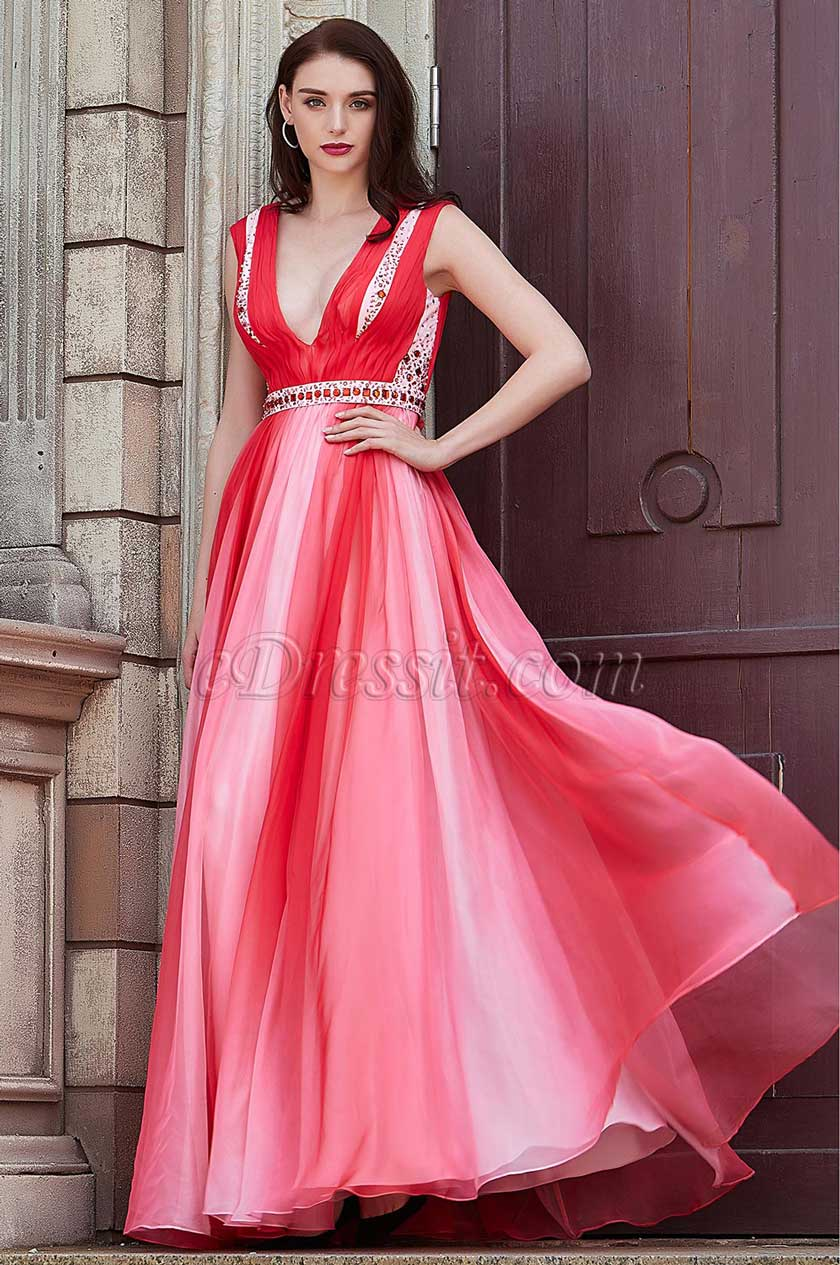 eDressit New V-Cut Straps Gradient Colour Party Bridesmaid Dress (00202256)