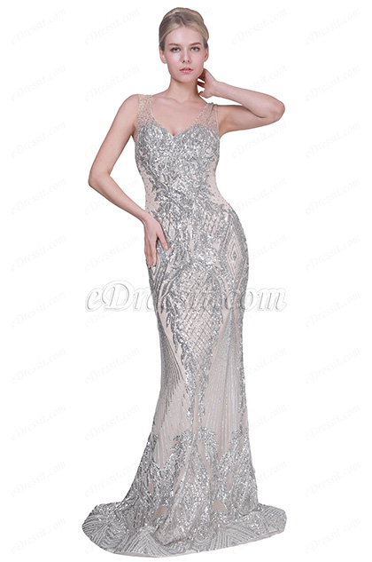 eDressit New V-Cut Shiny Beads Formal Party Evening Dress (02191714)