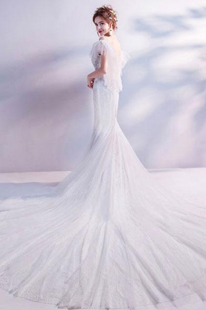 eDressit Sexy Spaghetti Off Shoulder V-Cut Formal Wedding Dress (36223407)