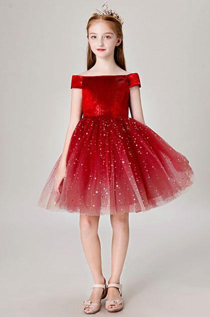 eDressit Princess Red Blingbling Flower Girl Dress (28202802)