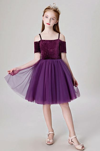 eDressit Lovely Purple Children Wedding Flower Girl Dress (28202606)