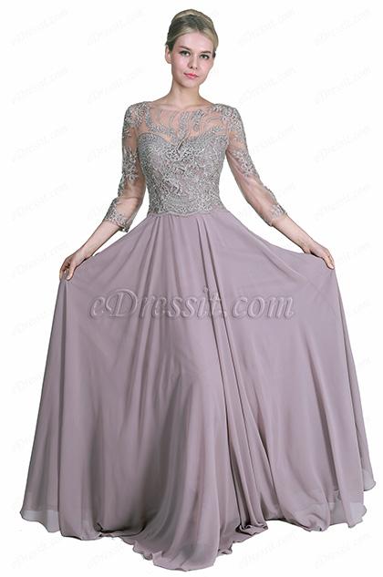 eDressit New Half Sleeves Formal Mother of the Bride Dress (26191946)