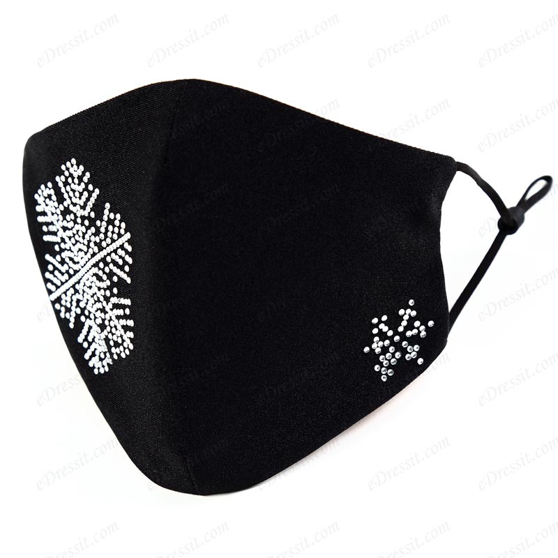 eDressit Snow-Shape Beading Face Mask for Adults (Mask017)
