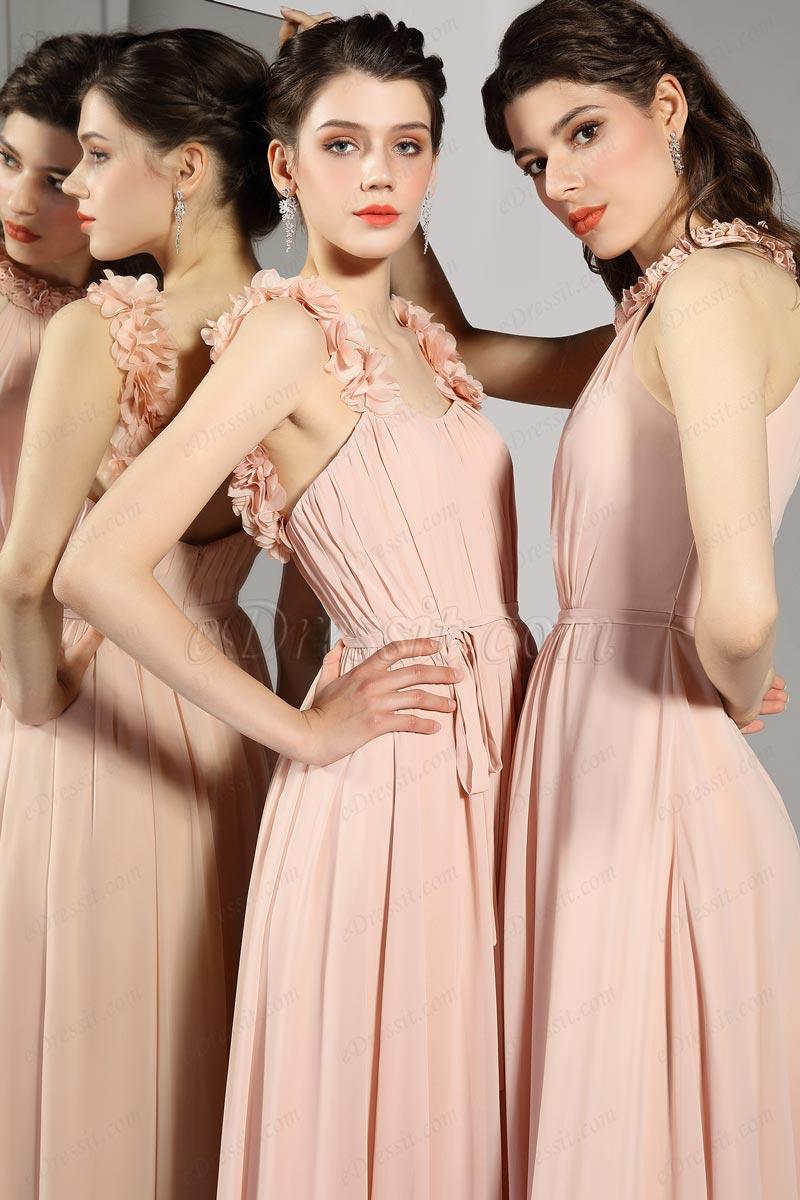 eDressit Einzigartige Blumenriemen Plissee Elegantes Kleid(07200646)