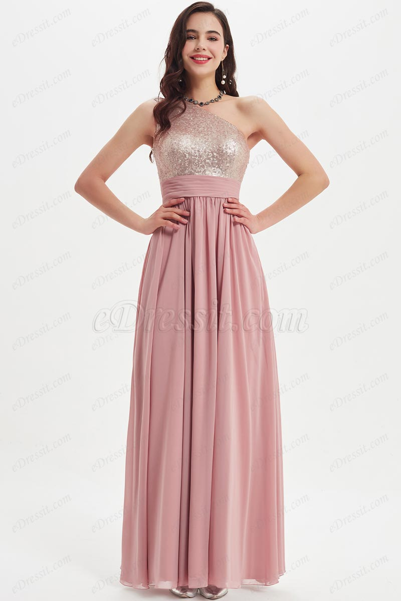 eDressit Sequins one Shoulder Elegant Party Bridesmaid Dress (07211046)
