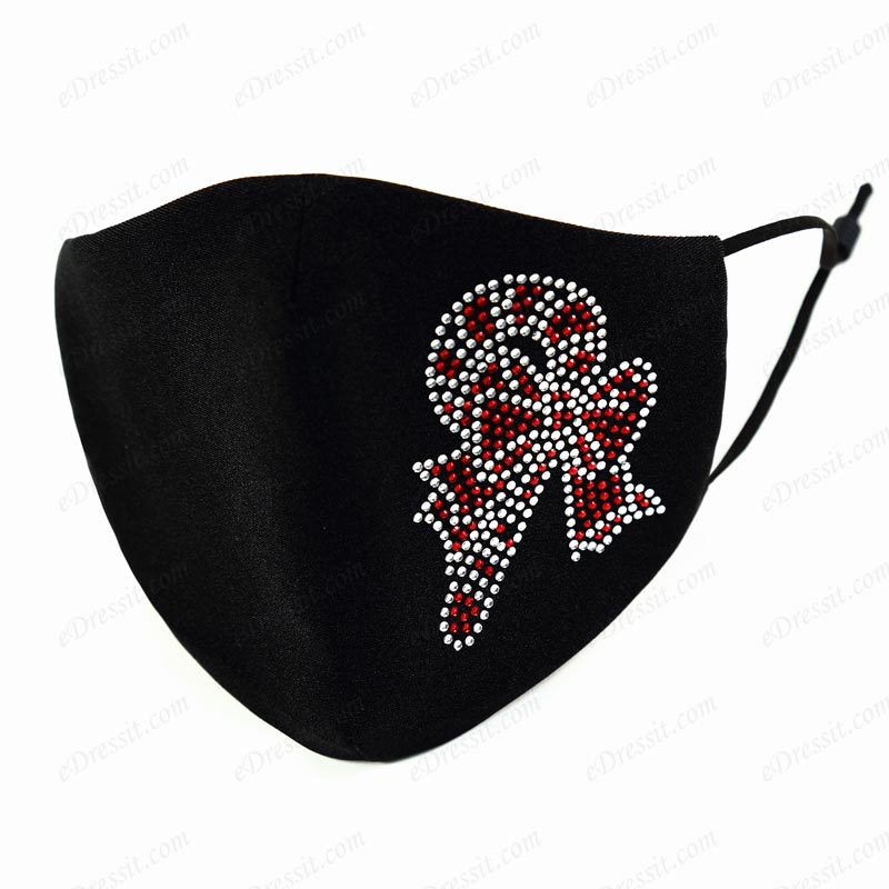 Christmas Preotective Reusable Washable Cloth Face Mask with Beads (Mask021)