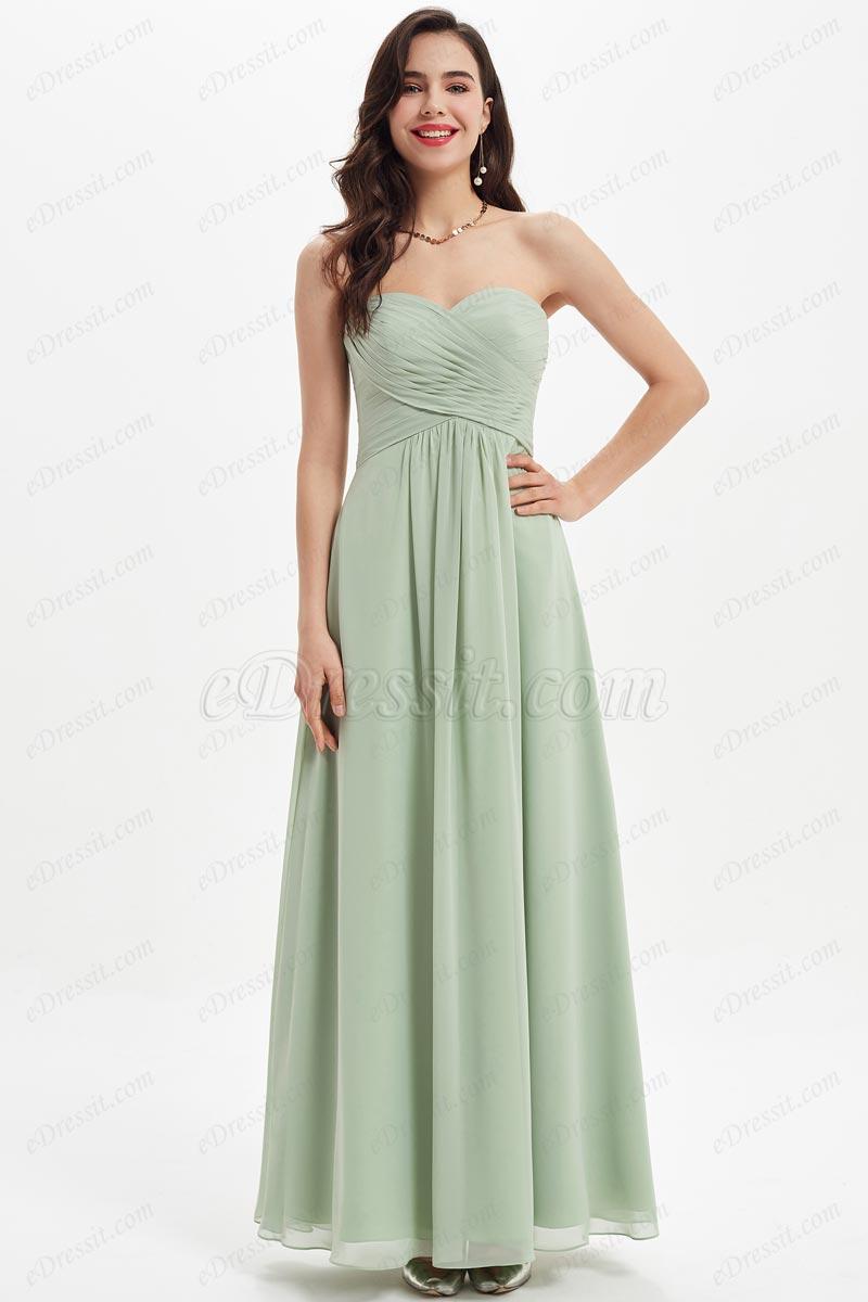 eDressit Green Sweetheart Corset Pleated Bridesmaid Dress (07212004)