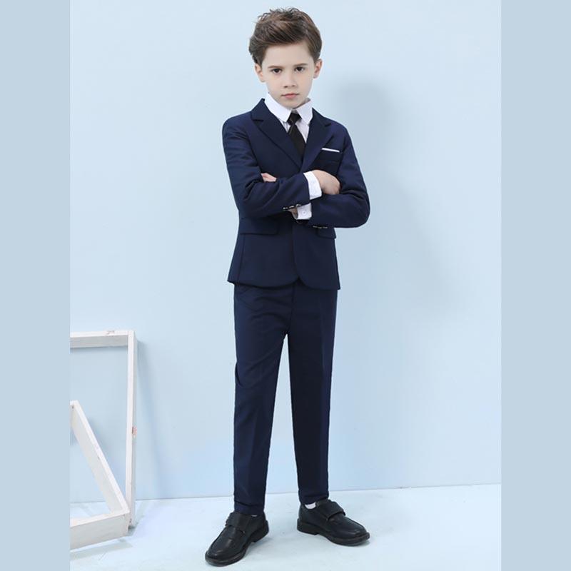 New Navy Blue 4 Pieces Suit Set Boys' Suit (T16013)