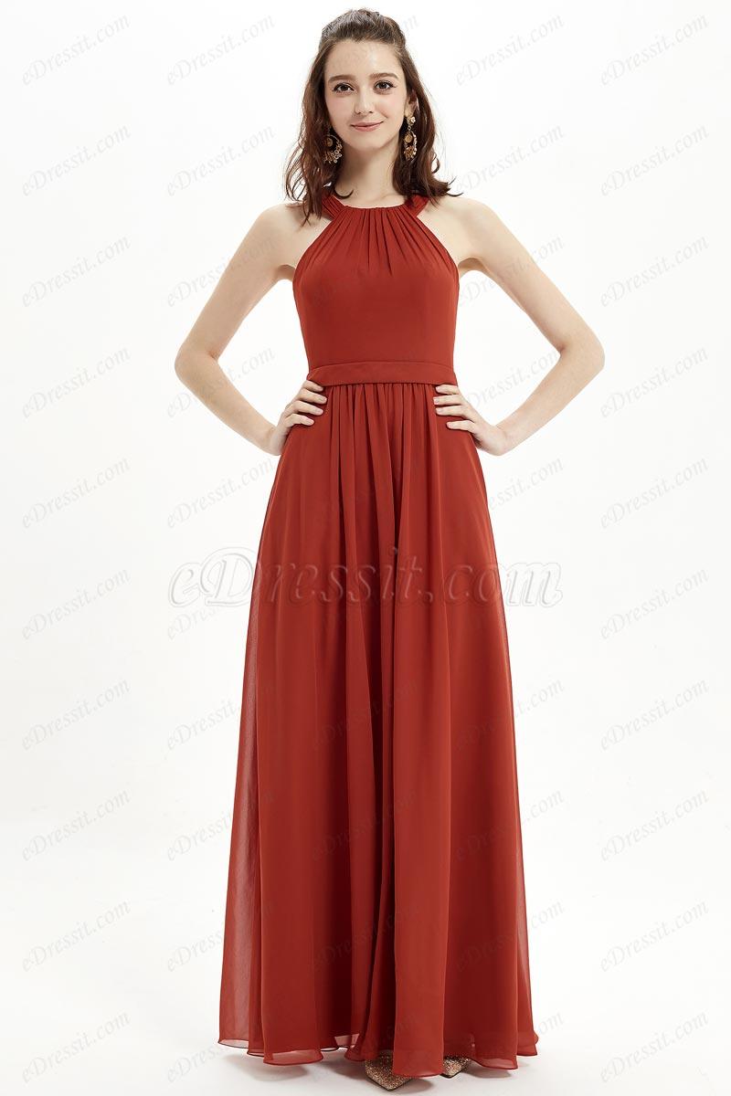 eDresit Sexy Scoop Dusty Red Elegant Bridesmaid Party Dress (07214902)