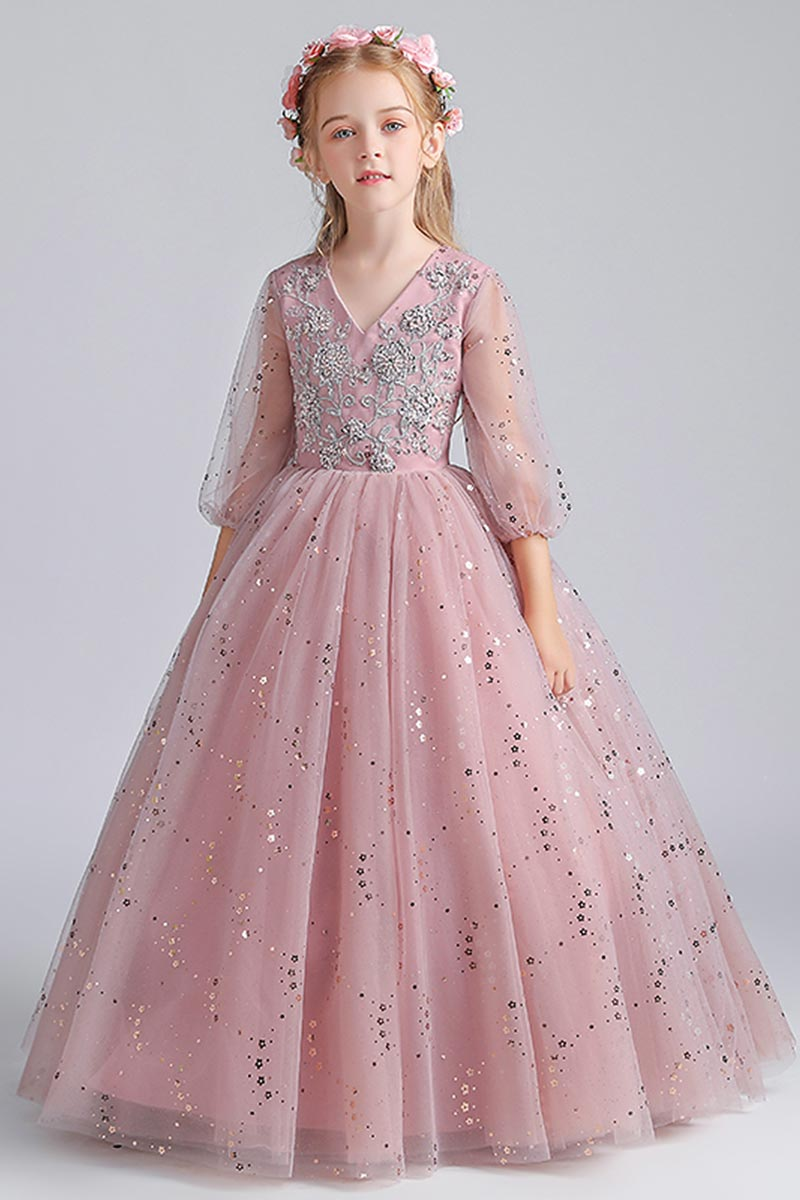 eDressit Sparkle Sequins Sleeves Tulle Party Flowergirl Dresss (27211146)
