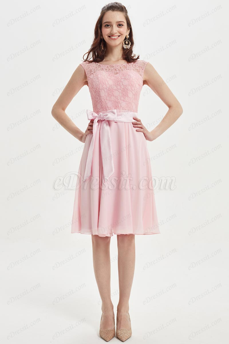eDressit Lovely Baby Pink Lace Cocktail Beidesmaid Dress (07217901)