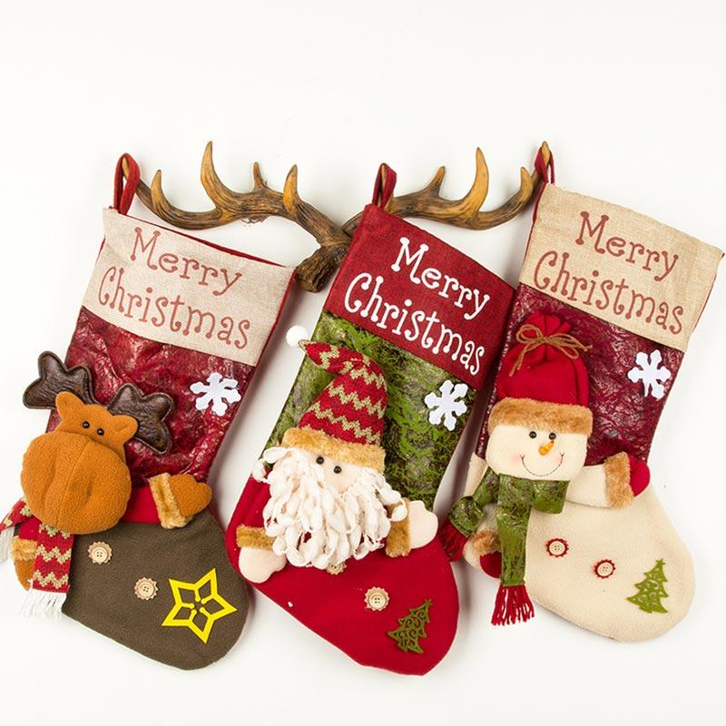 Christmas Stockings Christmas Socks Gift Bags Christmas Candy Bags (TF0005)