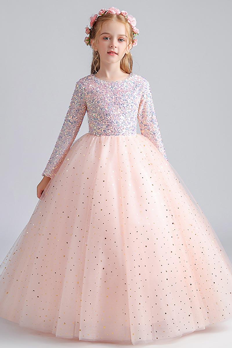 eDressit Sparkle Sequins Beads Tulle Wedding Flowergirl Dress (27211201)
