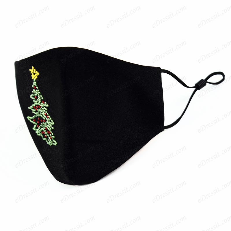 Christmas Washable Reusable&Adjustable Cloth Face Mask with Pattern (Mask018)
