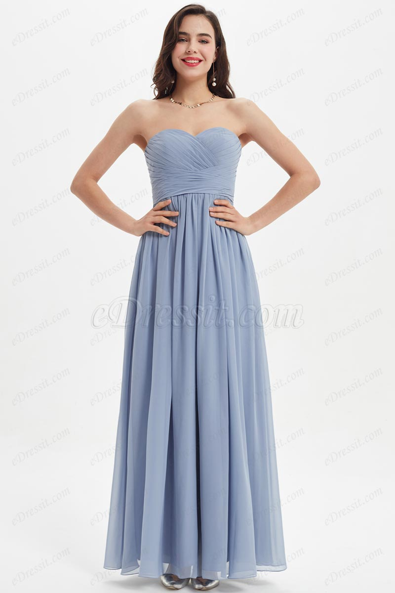eDressit Sweethear Corset Ruched Bodice Long Bridesmaid Dress (07212132)