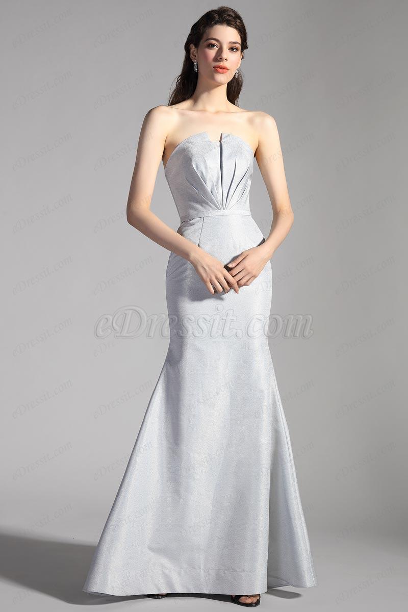 eDressit Grau einzigartig Korsett-Meerjungfrau Partykleid(02204608)