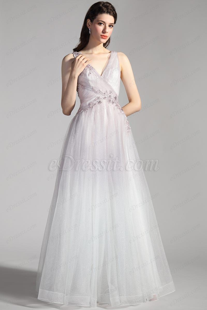 eDressit New Cross V-Cut Gradient Shiny Tulle Party Evening Dress (01202256)