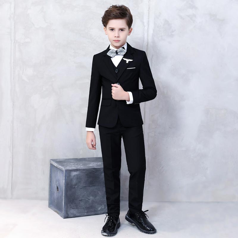 New Black Formal Boy Suit from Baby to Teen (T16002)