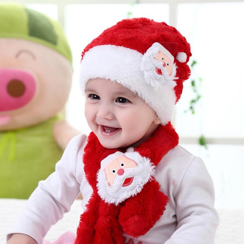 Lovely Cute Kids Hat Christmas Festival Sant Red Hat (TF0002)