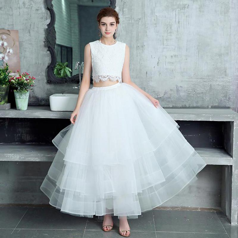 New Special Occasion Wedding A-line Long Maxi Tulle Skirt (T060107)