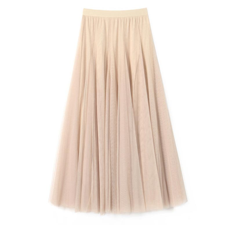 Women's Layered Mesh Ballet Prom Party Tulle Tutu A-Line Maxi Skirt (T440003)